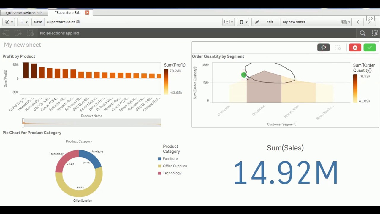 Qlik sense tutorial kpi object and its usage youtube qlik sense tutorial kpi object and its usage ccuart Image collections