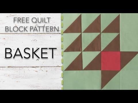 FREE Quilt Block Pattern: Basket