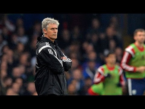 Alan Irvine is interviewed following West Bromwich Albion's 2-0 Premier League defeat at Chelsea