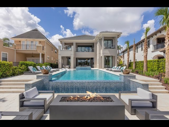 Luxury Orlando Vacation Villa Secret Playroom Indoor Basketball Court Infinity Pool Youtube