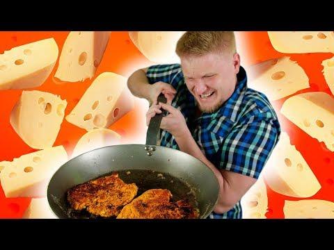 СЫРНЫЙ ШНИЦЕЛЬ с сыром под сырным соусом. Как я люблю...