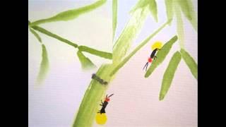蛍(文部省唱歌) 井上赳作詞・下総睆一作曲    Fireflies