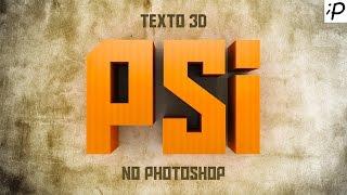 Como fazer o efeito Texto 3D no Photoshop