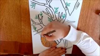 How to draw a beehive on a tree