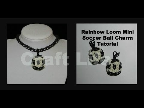 Craft Life ~ Rainbow Loom Mini Soccer Ball Charm Tutorial ... Rainbow Loom Mini Purse Craft Life