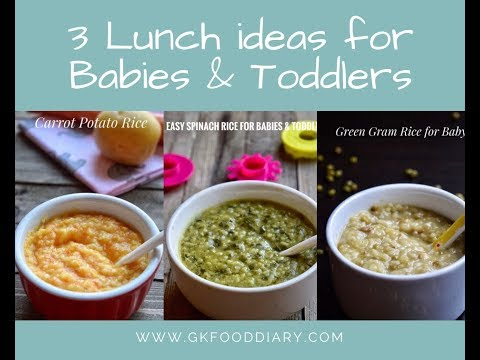 3 Lunch Ideas For Babies | Baby Food Recipes For 8+ Months  | Weight Gain Baby Food