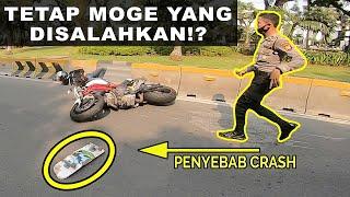 Ducati Crash Akibat Skateboard Melintas Ditengah Jalan - Night Ride Hampir Kejepit Truck || RH#92