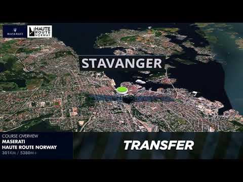 Maserati Haute Route Norway 2018 3D Map