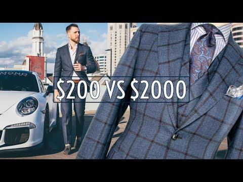 Worth It? $200 vs $2000 Suits    Cheap vs Expensive    Men's Fashion    Gent's Lounge