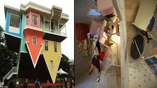 क्या आपने देखा है भी ऐसा उल्टा पुल्टा सा घर, सर चकरा जाएगा | Ajab Gajab: Topsy Turvy Houses
