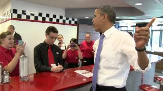 President Barack Obama Makes Surprise Visit thumbnail