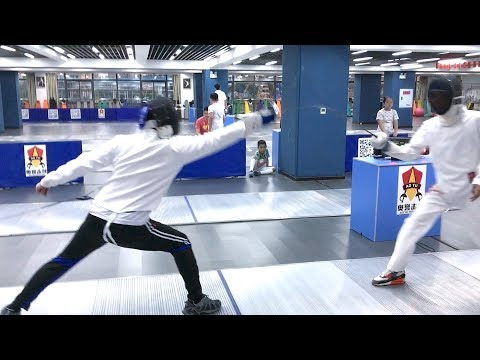 Épée Fencing in Chongqing, China