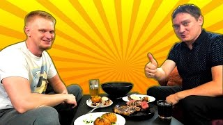 Нифед и Славный Друже жарят стейки! +Я ОТРЕЗАЛ ПОЛ ПАЛЬЦА! (4K Video)