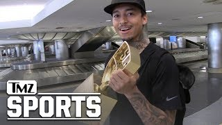 Nyjah Huston's Skateboarding Trophy so Big, TSA Checked it For Drugs! | TMZ Sports