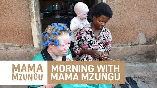 Morning with Women and Children with Albinism in Uganda for Mama Mzungu