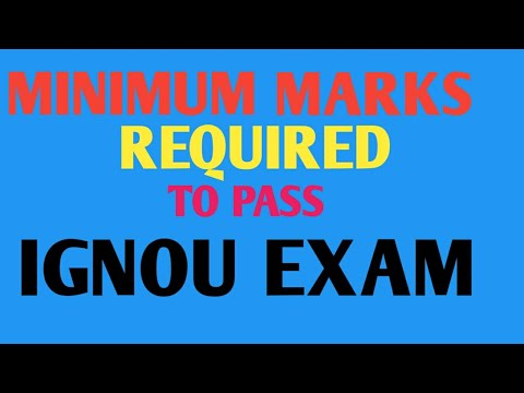 Minimum marks required to pass IGNOU exams