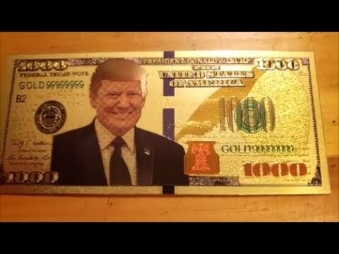 DONALD TRUMP 24k GOLD $1000 BILL