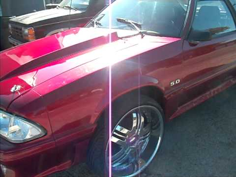 18 Inch Mustang Rims >> Ford Mustang Fox Body on 22 inch rims - YouTube
