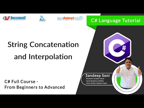 C# Tutorial | String Concatenation And Interpolation