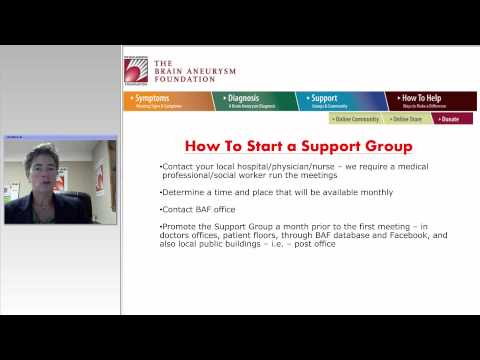 The Brain Aneurysm Foundation: The Importance of Patient Advocacy and Support Groups