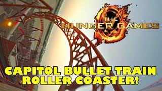 Hunger Games Roller Coaster! Multi Angle POV! Capitol Bullet Train Motiongate Theme Park Dubai