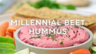 The Best and Easiest Beet Hummus
