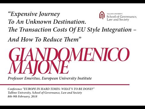 "Giandomenico Majone at the conference ""Europe in Hard Times – What's to be Done?"""