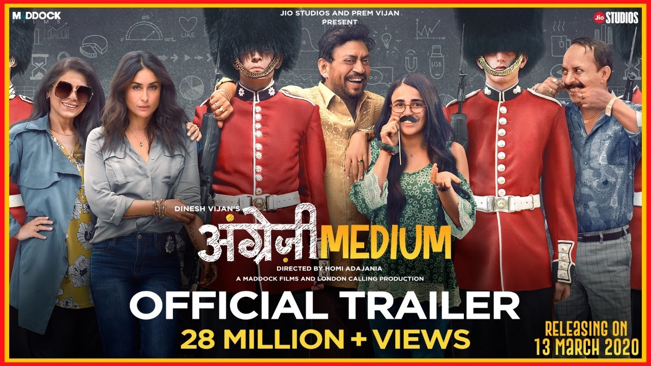 Angrezi Medium - Official Trailer | Irrfan Kareena Radhika | Dinesh Vijan | Homi Adajania | 20 March