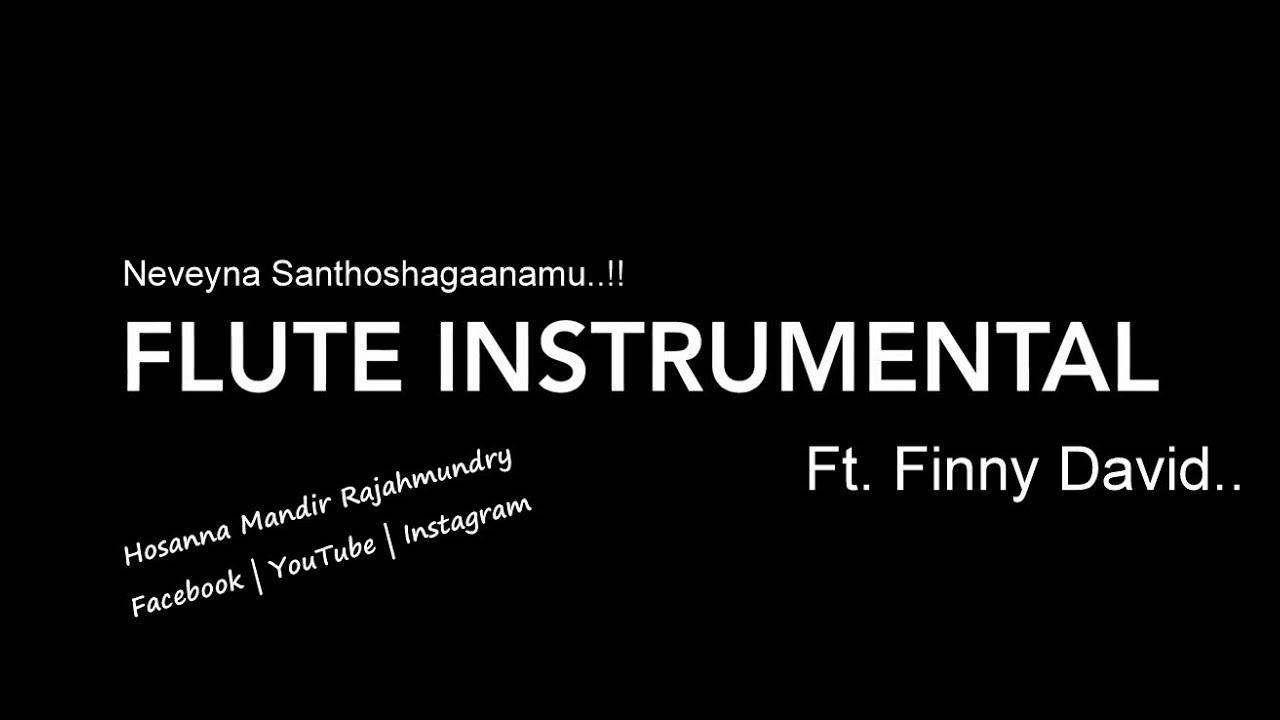 Neeveyna Santhoshaganamu song | Flute Instrumental | Ft. Finny David