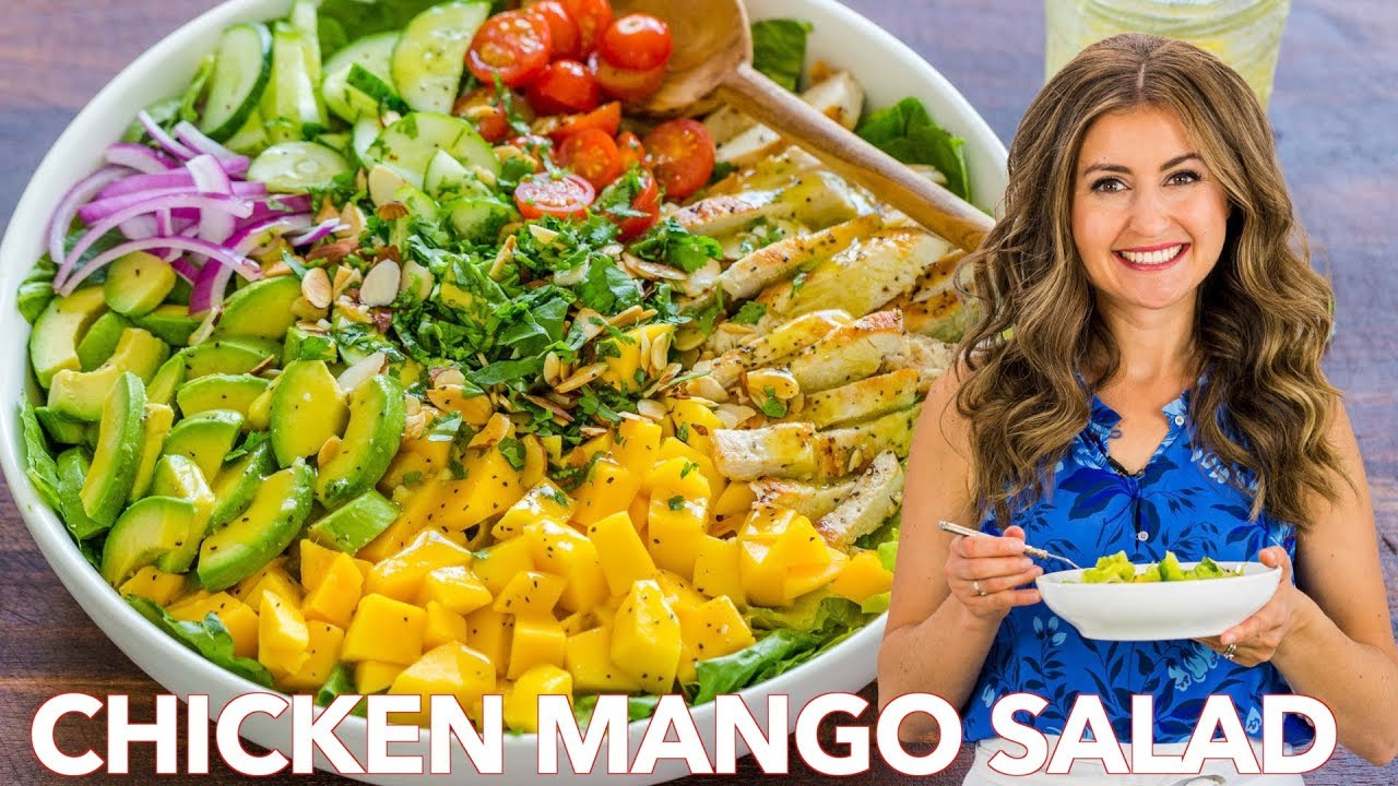 Perfect Chicken Mango And Avocado Salad Easy Dressing