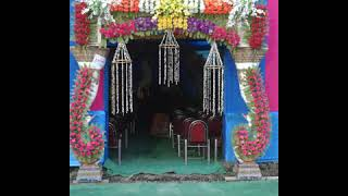 New Stage Beautiful Flower Decoration For Wedding Pictures.