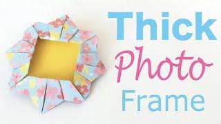 Origami Paper Thick Photo Frame ✨DIY✨ - Origami Kawaii〔#138〕