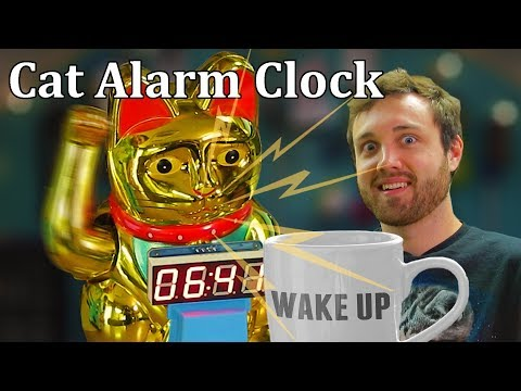 This Robot Alarm Clock Smashes Cups