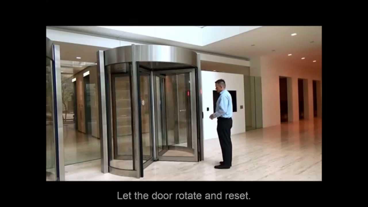 Tourlock 180+90 Security Revolving Door End User Orientation