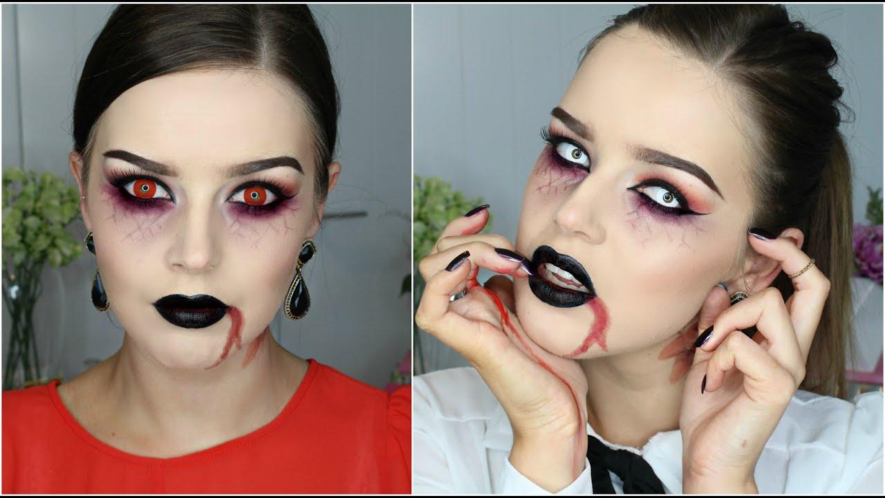 Halloween makeup tutorial semi sexy vampire youtube baditri Image collections