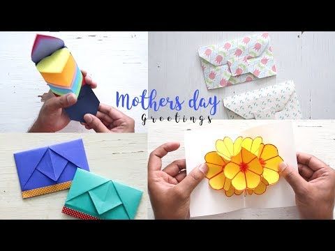 4 Beautiful And Easy Mother's Day Cards Ideas   Gifts For Mom