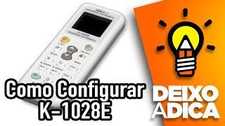 Como Configurar Controle Universal de Ar Condicionado e Unboxing PROSPER K-1028E