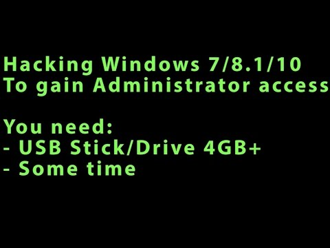Howto Get Admin Access To ANY Windows 7 / 8 / 10 Machine For FREE! Full Walkthrough