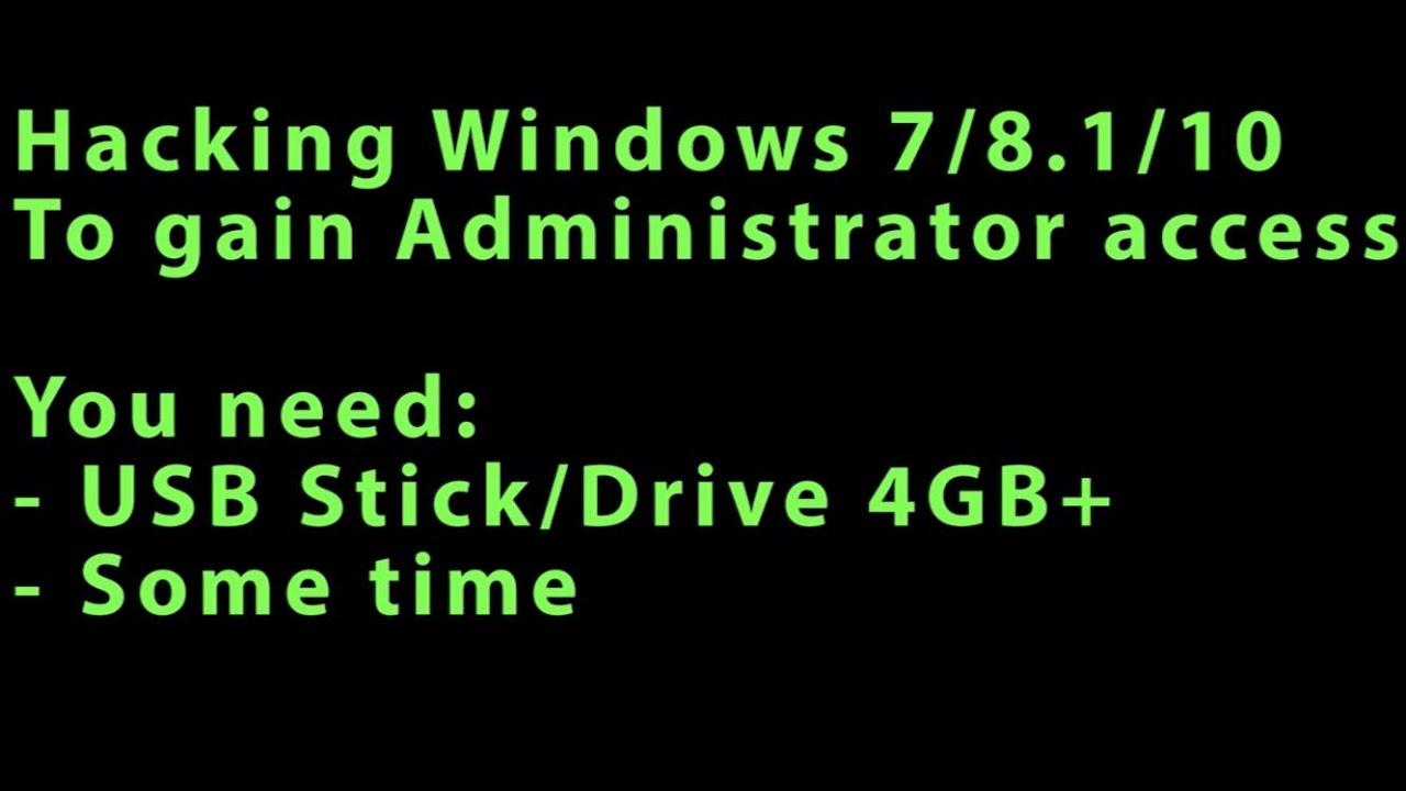 gain administrator access windows 7