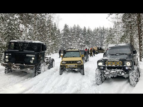 Смотреть Так ли хорош ГАЗ--66?)) OffRoadSPB грязнет в снегу... онлайн