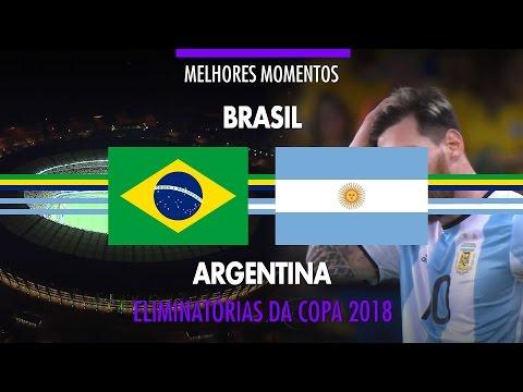 Melhores Momentos - Brasil 3 x 0 Argentina - Eliminatórias da Copa 2018 - 10/11/2016