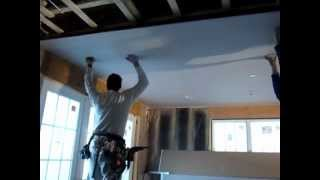 Blue Board Ceiling Installation