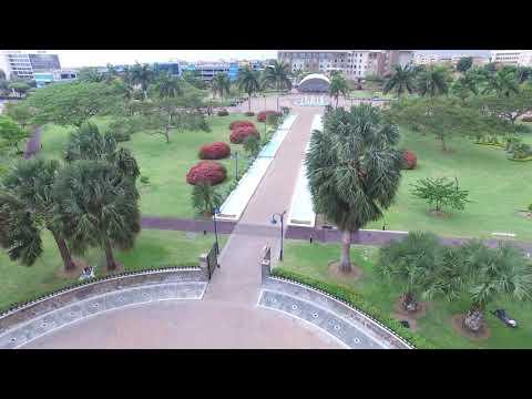 Emancipation Park Kingston Jamaica Drone Footage