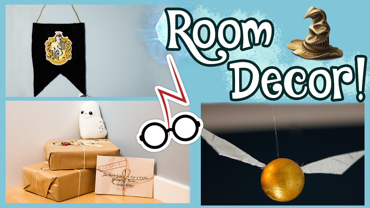 Diy Harry Potter Room Decorations Youtube