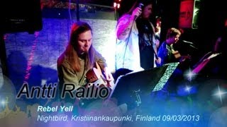 Antti Railio - Rebel Yell (Billy Idol cover) @ Nightbird, Kristiinankaupunki, Finland 09/03/2013