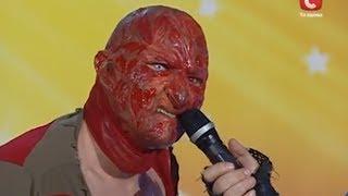 Freddy Krueger auditions for Ukraine's Got Talent - Global
