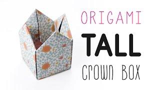 Origami Crown Box Tutorial - Tall Version -  ♥︎ DIY ♥︎