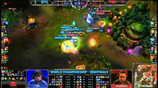 Royal (Uzi Caitlyn) VS Fnatic (Puszu Varus) Epic Game 4 Semifinal Highlights - S3 World