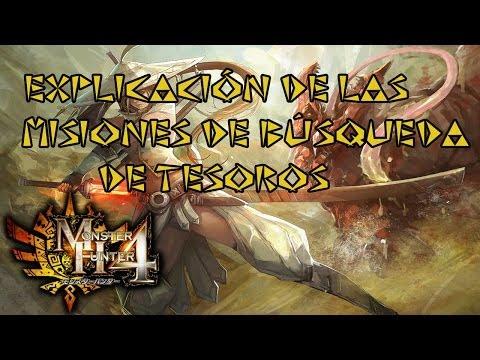 Monster Hunter 4 - Explicación de las Búsquedas de Tesoros