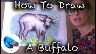 Learn How To Draw A BUFFALO - STEP BY STEP Guide Ages 5+